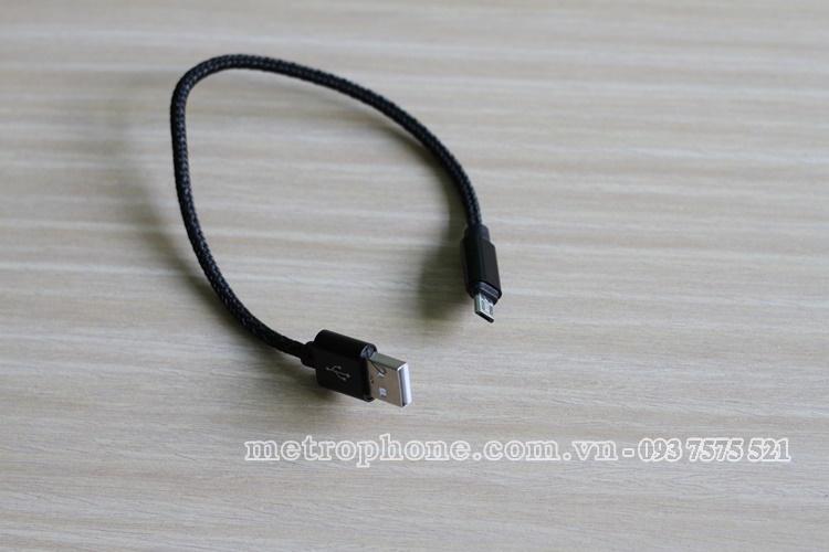 [1364] Cáp Sạc Mini Đầu Micro USB - metrophone.com.vn