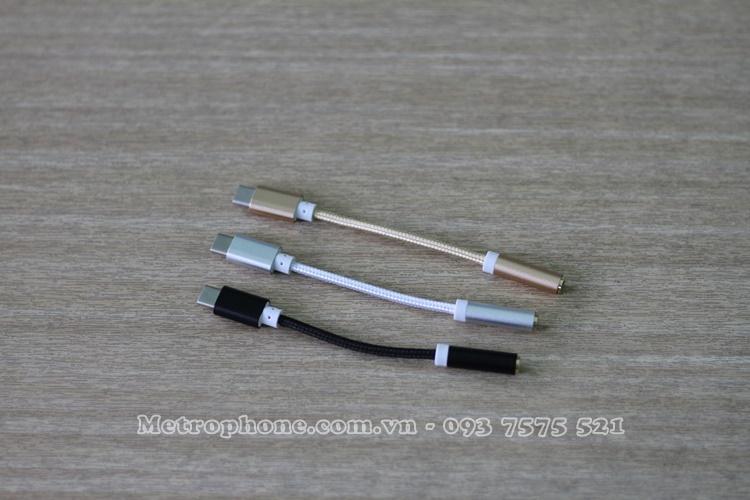 [5227] Dây Chuyển Cổng Type-C Sa ng Jack 3.5mm - Metrophone.com.vn