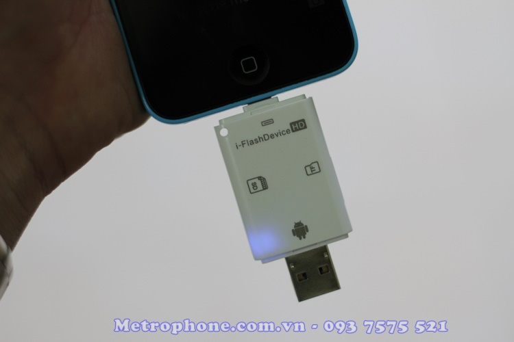 [4734] FlashDevice Đầu Đọc Thẻ Nhớ SD/TF Dành Cho IPhone/IPad/ Android OS - Metrophone.com.vn