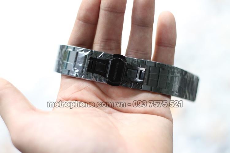 [4091] Dây Thép Đúc 18mm Dành Cho Đồng Hồ Thông Minh Huawei -metrophone.com.vn