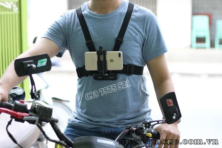 [483] Dây Đeo Ngực Cho Điện Thoại Và Camera Hành Trình - Metrophone.com.vn