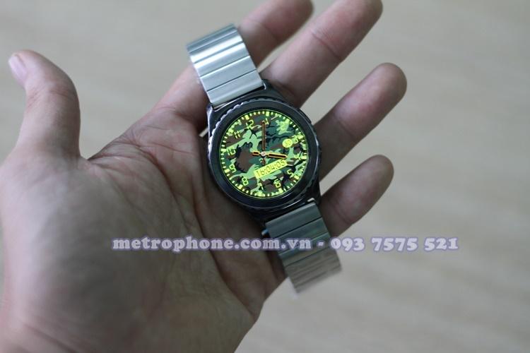 [4570] Dây Nguyên Khối Thép Đúc Cho Samsung Gear S2 Classic/ Gear Sport / Ticwatch 2/Moto 360 (2015) - Metrophone.com.vn