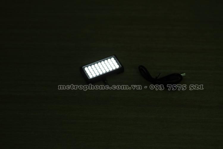 [4351] Đèn Led Trợ Sáng Cho Điện Thoại Và Máy Chụp Hình - Metrophone.com.vn