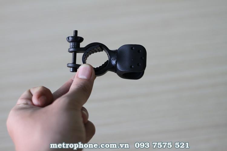 [2533] Giá Kẹp Đèn Pin Thanh Tròn Trên Gi Đông Xe Xoay 360 Độ - Metrophone.com.vn