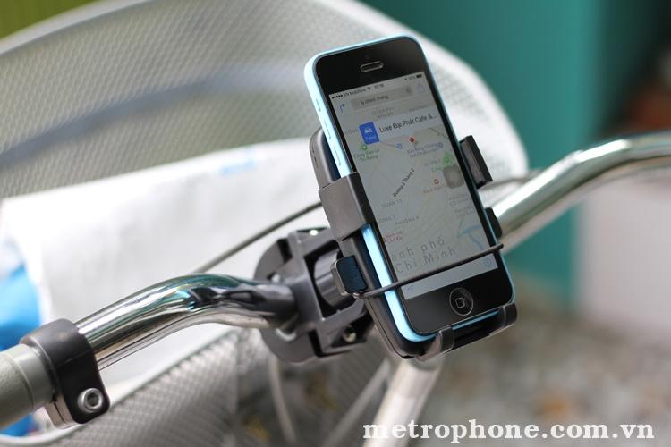 [137] Giá Đỡ Điện Thoại Trên Xe Đạp/Motor ( 2 dây quấn ) - Metrophone.com.vn