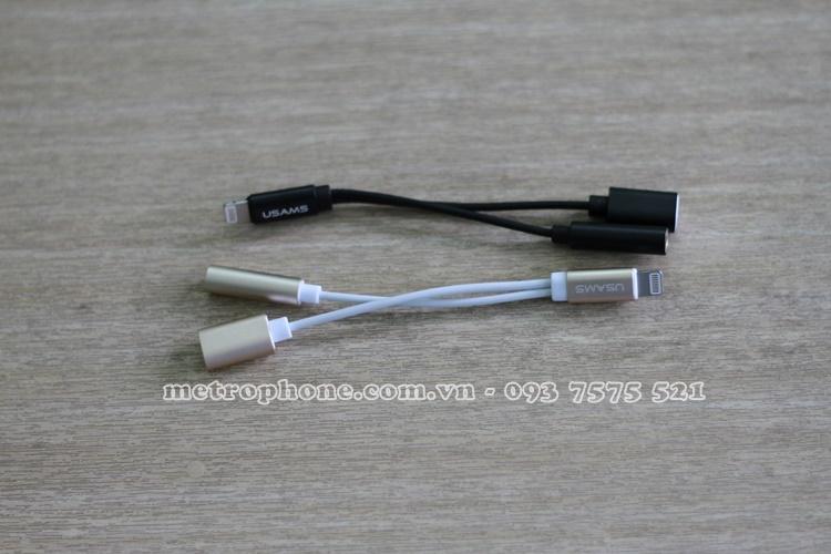 [4283] Dây Chia Cổng Lightning Sang Cổng Sạc Lightning Và Jack 3.5mm Cho IPhone 7/ 7 Plus - Metrophone.com.vn