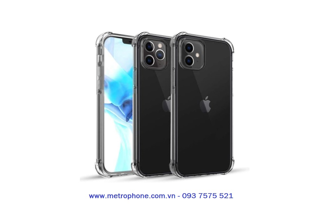 ốp dẻo trong chống sốc cho iphone 12 metrophone.com.vn