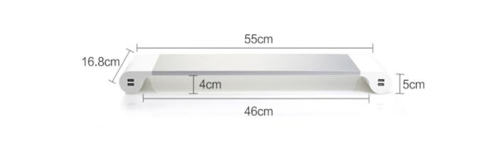 [5915] Kệ Để Màn Hình Desktops Tích Hợp 4 Cổng Sạc USB