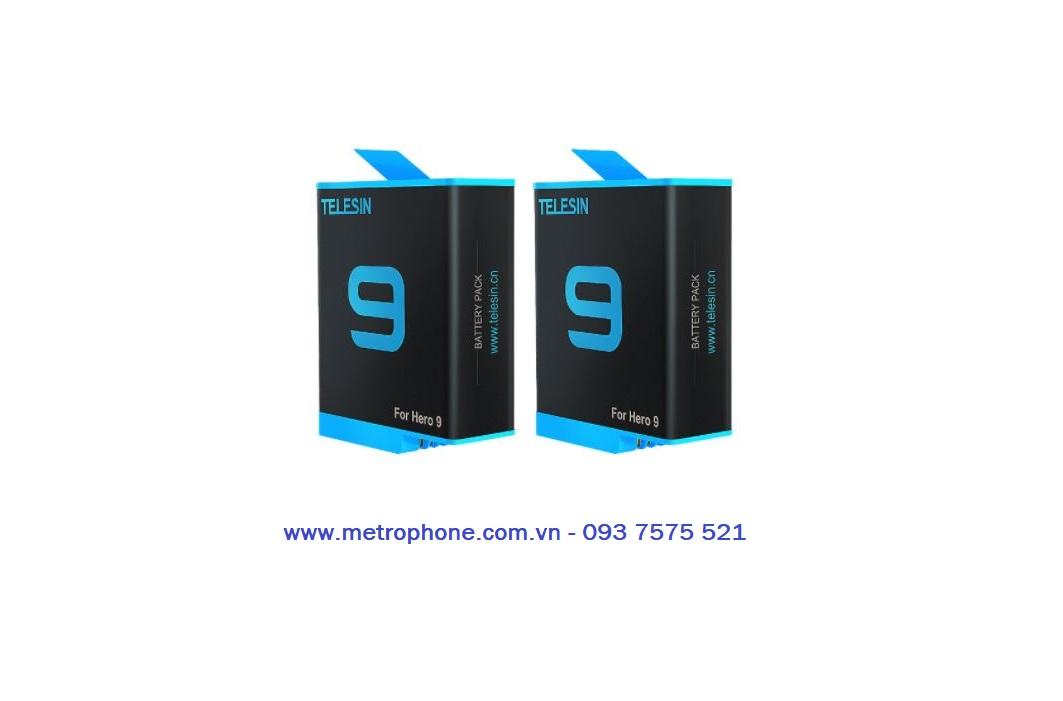 combo pin và sạc telesin cho gopro 9 metrophone.com.vn