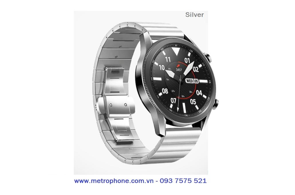 dây thép đúc nguyên khối cho galaxy watch 3 45mm metrophone.com.vn