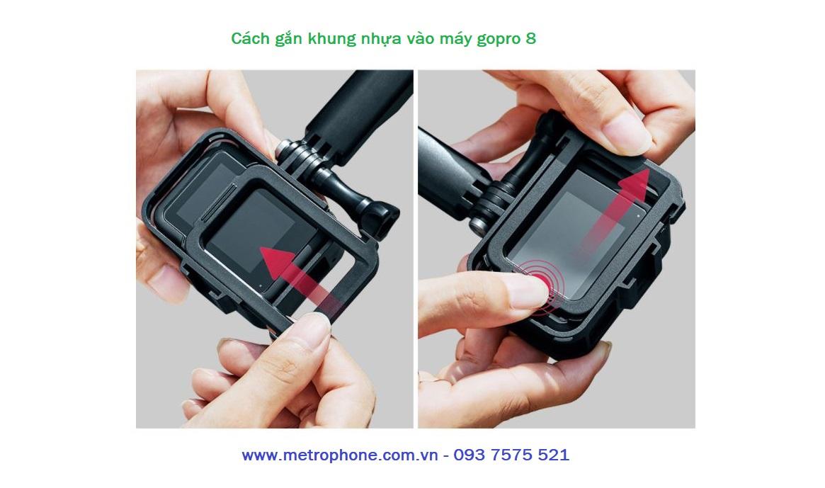khung nhựa cho gopro 8 puluz
